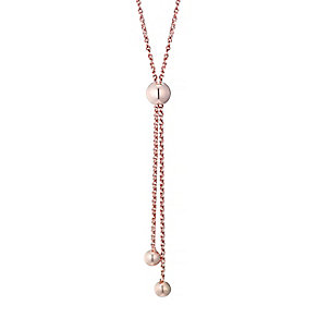"""9ct Rose Gold 28"""" Double Strand Adjustable Necklace - Product number 4506324"""