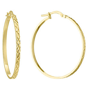 9ct Yellow Gold 27mm Creoles - Product number 4506405