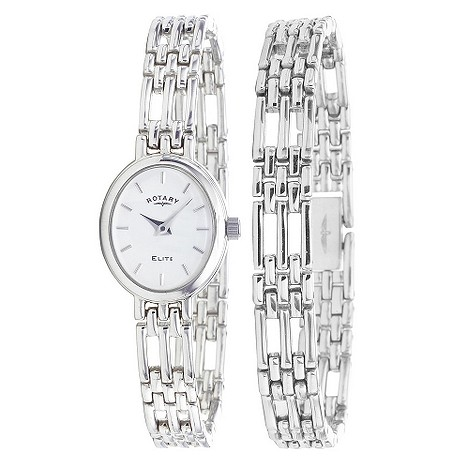 Rotary ladies sterling silver watch and bracelet set