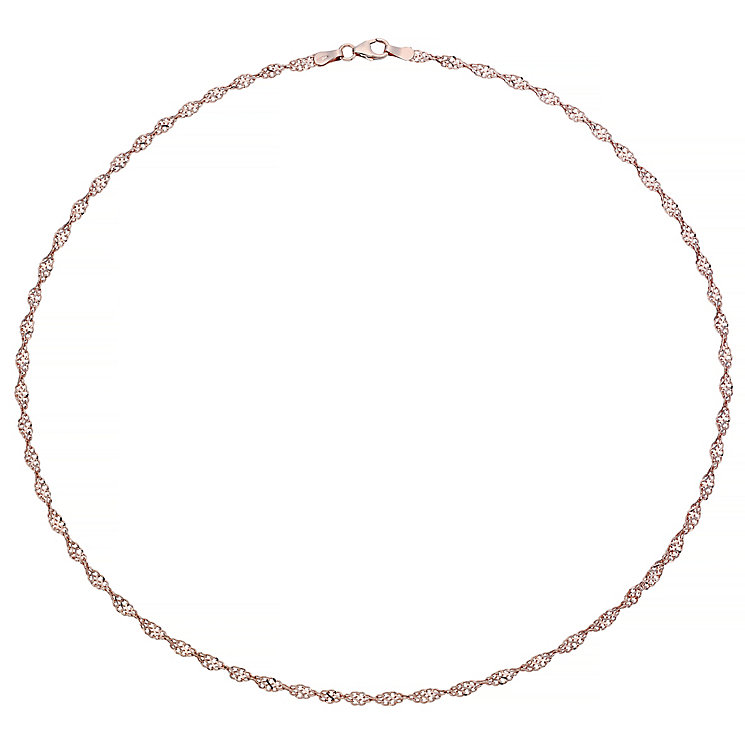 "9ct Rose Gold 18"" Singapore Chain Necklace - Product number 4506448"