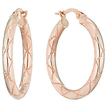 9ct Rose Gold 20mm Sparkle Cut Creoles - Product number 4506537