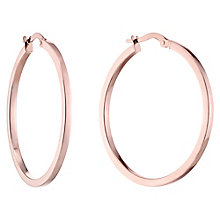 9ct Rose Gold 30 mm Flat Creoles - Product number 4506979