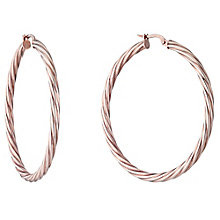 9ct Rose Gold 40mm Twisted Creoles - Product number 4507010