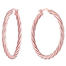 9ct Rose Gold 30mm Twisted Creoles - Product number 4507029