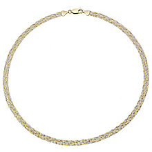 9ct Gold 3 Colour Herringbone Necklace - Product number 4507223