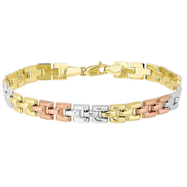 9ct Gold 3 Colour Panther Link Bracelet - Product number 4507398