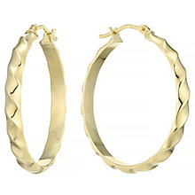 9ct Yellow Gold 26mm Patterned Creoles - Product number 4507479