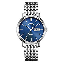 Rotary Men's Blue Dial Stainless Steel Bracelet Watch - Product number 4507525