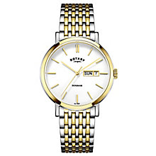 Rotary Men's Two Colour Stainless Steel Bracelet Watch - Product number 4507568
