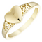 9ct Gold Heart Ring Size H - Product number 4508467