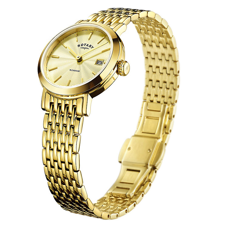 Rotary Ladies' Champagne Dial Gold-Plated Bracelet Watch - Product number 4508793