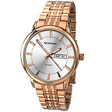 Sekonda Men's Silver Dial Rose Gold-Plated Bracelet Watch - Product number 4509765