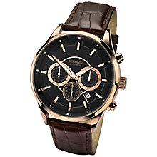 Sekonda Men's Black Multi Dial Brown Leather Strap Watch - Product number 4509811