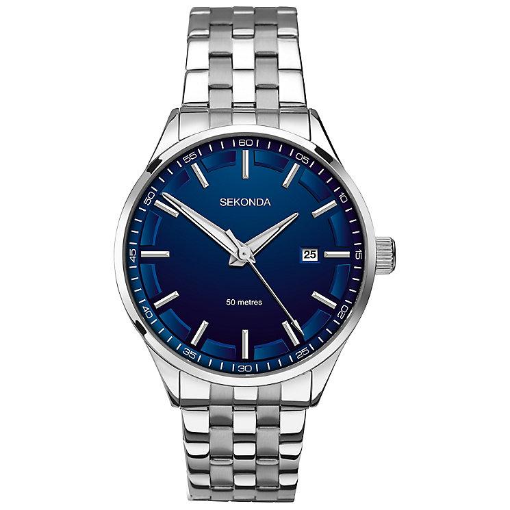 Sekonda Men's Blue Dial Stainless Steel Bracelet Watch - Product number 4509854