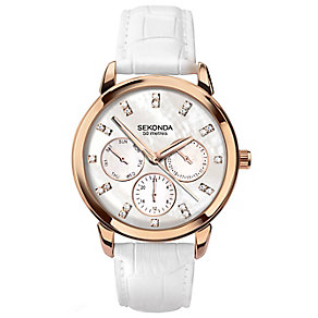 Sekonda Editions Ladies' Multi Dial Leather Strap Watch - Product number 4509870