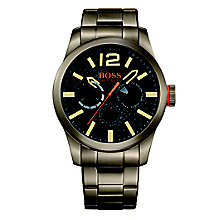 Boss Orange Men's Khaki Stainless Steel Bracelet Watch - Product number 4509927