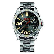 Boss Orange Men's Grey Dial Stainless Steel Bracelet Watch - Product number 4509943