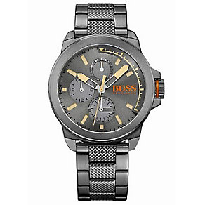 Hugo Boss Orange Men's Grey Ion Plated Chronograph Watch - Product number 4509978