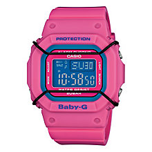 Casio Baby-G Ladies' Digital Pink Strap Watch - Product number 4510895