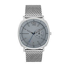 Skagen Men's Square Grey Dial Stainless Steel Bracelet Watch - Product number 4515250