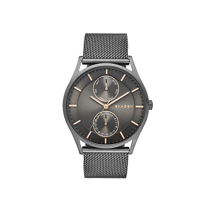 Skagen Men's Gunmetal Ion-Plated Mesh Bracelet Watch - Product number 4515285