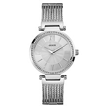 Guess Ladies Silver Dial Stainless Steel Bracelet Watch - Product number 4515315
