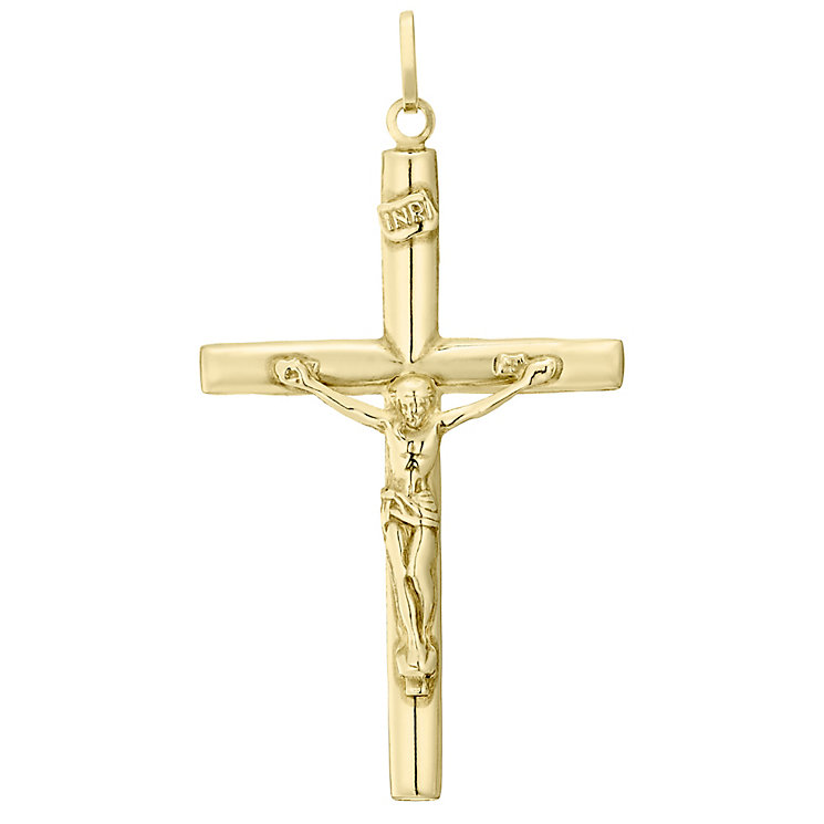9ct Gold Large Crucifix Pendant Without Chain - Product number 4515412
