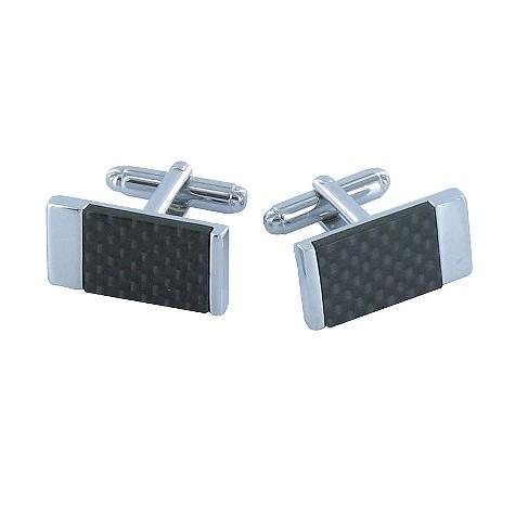 Metro carbon fibre cufflinks
