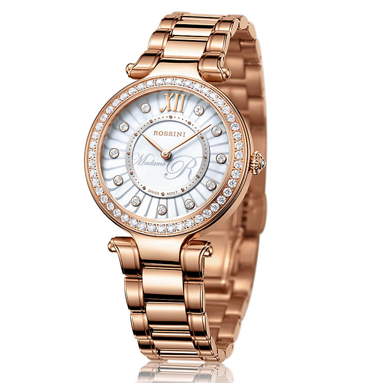 Rossini Madame R Ladies' Rose Gold-Plated Bracelet Watch - Product number 4519779