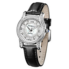 Rossini Sapphire Ladies' Stone Set Black Leather Strap Watch - Product number 4519906