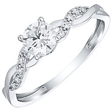 9ct White Gold & Cubic Zirconia Twist Ring - Product number 4519914