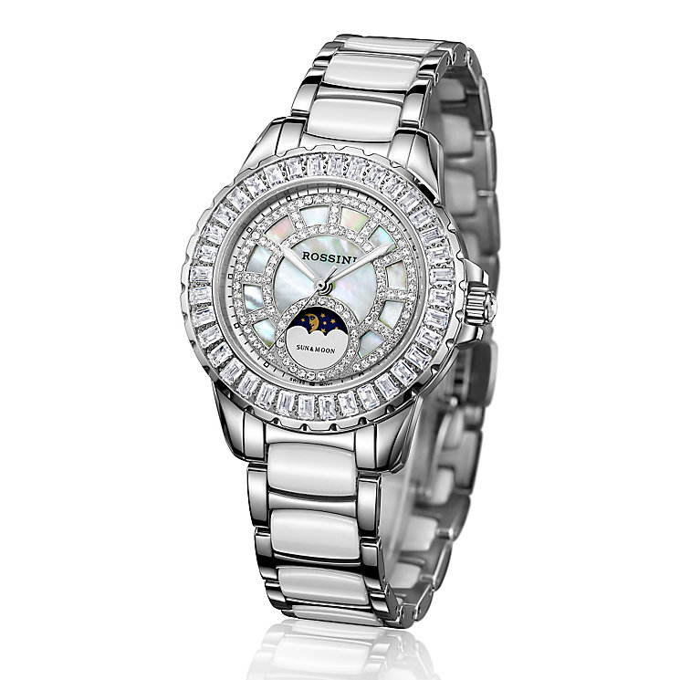 Rossini Ladies' Stone Set Stainless Steel Bracelet Watch - Product number 4520203