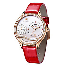 Rossini Ladies' Stone Set Red Leather Strap Watch - Product number 4520335