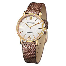 Rossini Sapphire Ladies' Brown Snakeskin Leather Strap Watch - Product number 4520637