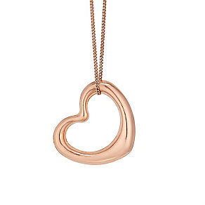 9ct Rose Gold Open Heart Pendant - Product number 4523253