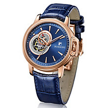 Rossini Men's Blue Dial Blue Leather Strap Watch - Product number 4532368