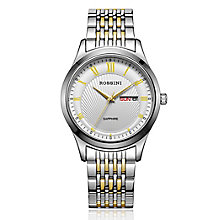 Rossini Sapphire Men's 2 Tone Stainless Steel Bracelet Watch - Product number 4532392