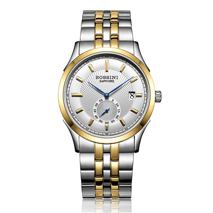 Rossini Sapphire Men's 2 Tone Stainless Steel Bracelet Watch - Product number 4532465
