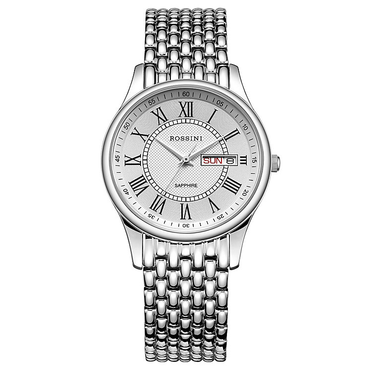 Rossini Sapphire Men's Stainless Steel Bracelet Watch - Product number 4532511