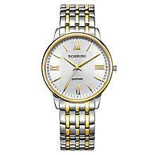 Rossini Sapphire Men's 2 Tone Stainless Steel Bracelet Watch - Product number 4532597