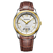 Rossini Men's White Dial Brown Leather Strap Watch - Product number 4532619