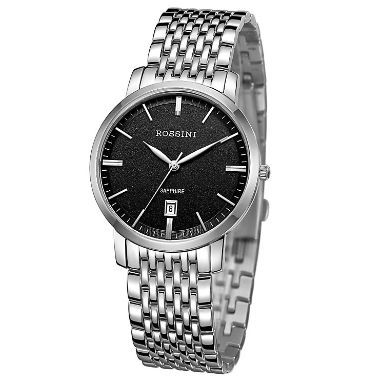 Rossini Sapphire Men's Stainless Steel Mesh Bracelet Watch - Product number 4532678