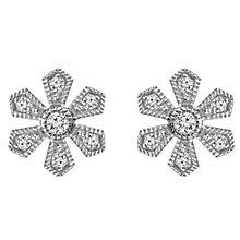 Emmy London Silver 1/10 Carat Diamond Earrings - Product number 4532783