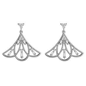 Emmy London Sterling Silver 1/4 Carat Diamond Drop Earrings - Product number 4532902