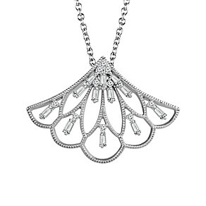 Emmy London Sterling Silver 1/4 Carat Diamond Fan Pendant - Product number 4532910