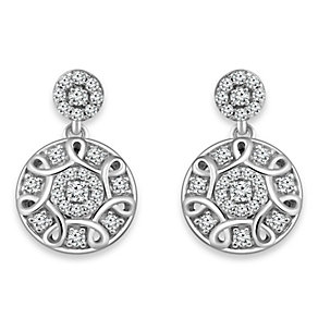Emmy London Sterling Silver 1/4 Carat Diamond Drop Earrings - Product number 4533321
