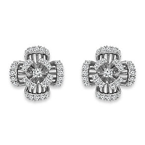 Emmy London Sterling Silver 1/4 Carat Diamond Stud Earrings - Product number 4533550