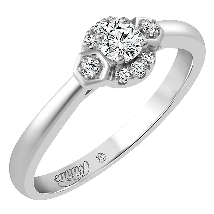 Emmy London 9ct White Gold 1/5 Carat Diamond Solitaire - Product number 4533690