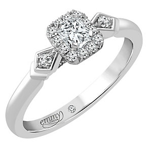 Emmy London Palladium 1/3 Carat Diamond Solitaire Ring - Product number 4536576