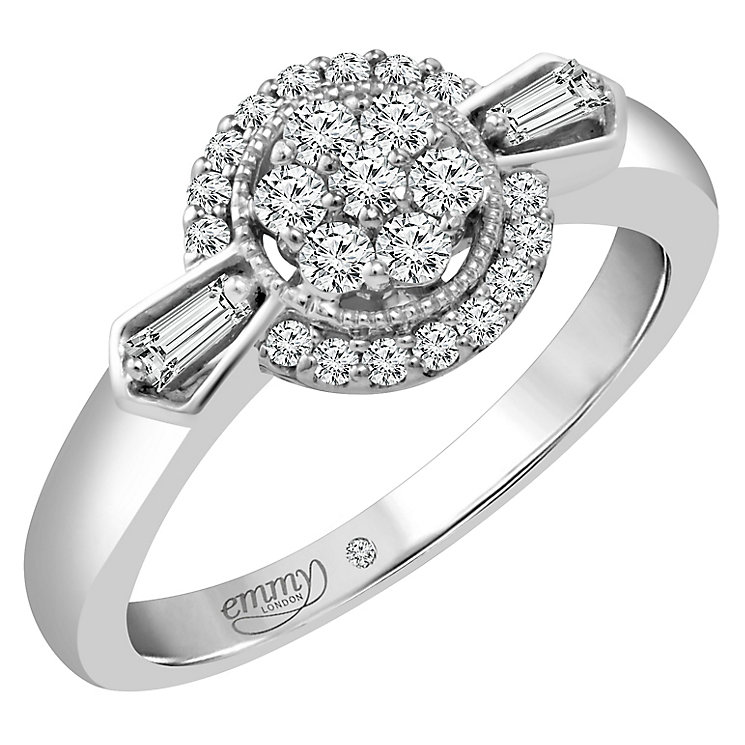 Emmy London Palladium 1/3 Carat Diamond Ring - Product number 4536703